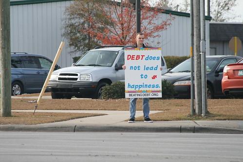 Debt Protest - Nov 28, 2008