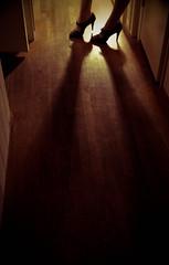 183 - christmas time (Miso-Soup) Tags: shadow selfportrait hall shoes shadows backlighting 365days