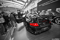 GT STREET R. (Denniske) Tags: show street bw color colour art cars digital canon germany de eos essen angle tech 911 wide sigma turbo f r porsche motor mm gt dennis tuning messe 1020 colouring styling duitsland selective 456 997 bwcolor noten carspotting 40d denniske dennisnoten