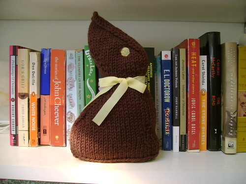 knit chocolate bunny