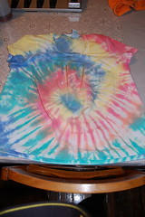 Tie-Dyeing- Maternity shirt for myself