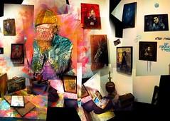 C215 - JUNK STORE - solo show at AD HOC gallery (Brooklyn) (C215) Tags: show nyc usa streetart art brooklyn french graffiti stencil christian solo pochoir masacara szablon c215 schablon guémy piantillas sharingart