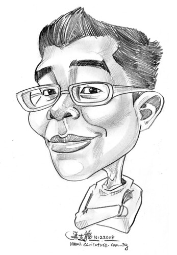 guy caricature in pencil 101208