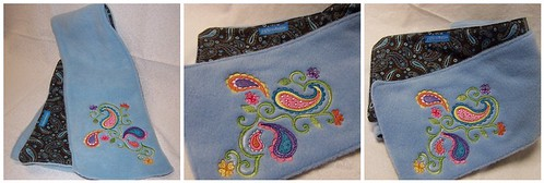 Paisley Fleece Scarf