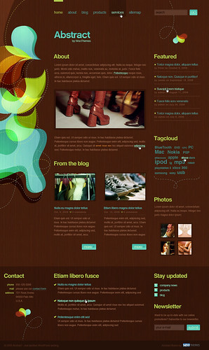 Abstract, my Woothemes design (homepage)
