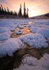 Shades Of Winter (Wolfhorn) Tags: winter sunset snow cold ice nature water alaska hoarfrost wilderness