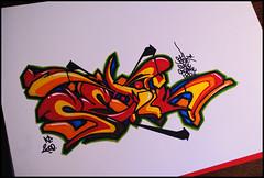 Merry X-Mas! 2008 (Setik01) Tags: christmas urban streetart art colors paper graffiti design sketch paint dynamic t