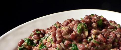 Bohnen-Spinat-Salat