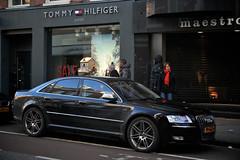 Audi S8 (Philip VdV) Tags: white black holland amsterdam canon eos 350d rebel xt pc capital nederland exotic polarizer paysbas exclusive hooftstraat carspotting hoofdstad philipvdv philipvandevondel
