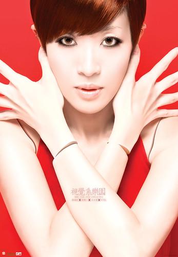 你拍攝的 陳珊妮 視覺系樂園 演唱會 海報。