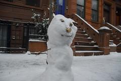 Snowman in Harlem