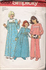 Simplicity 6690 (Artdoodads.etsy) Tags: girls fashion vintage uncut pattern robe sewing crafts craft sew simplicity supplies bathrobe pajamas supply nightgown nightwear sewingpattern 6690