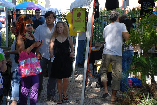people at upper east garden in MiMo in Miami
