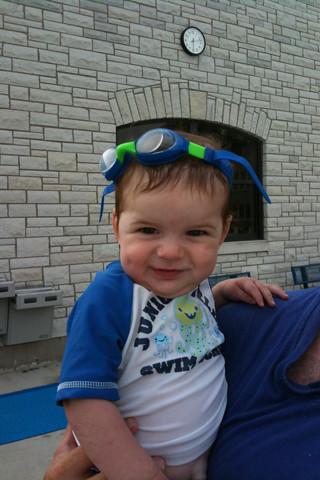 Finn at the pool