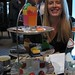 Lesley and our afternoon tea