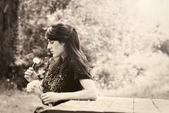 """Wishers""... (miss_n_arrow) Tags: portrait girl self think thoughtful dreaming seeds imagine wish dandelions wisher dpsmood"