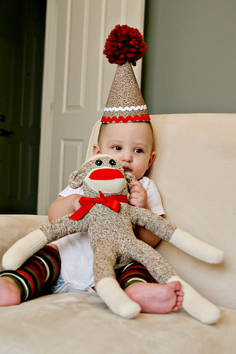 sock monkey birthday hat_picture2