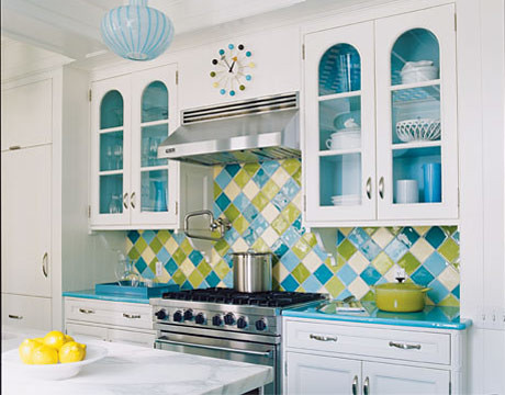 Multi-color retro Backsplash