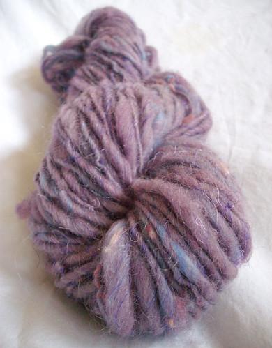 Plum tweed