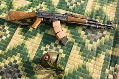 Meet The Janjaweed-16.jpg (Andrew Carter) Tags: gun fighter sudan rifle mat arab weapon conflict canteen militia darfur ak47 janjaweed unreportedworld