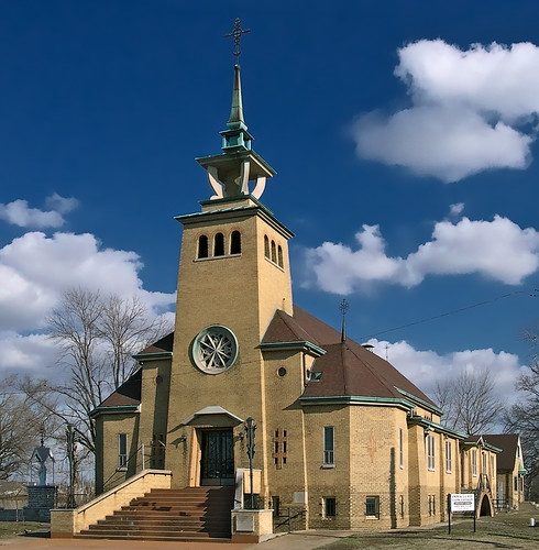 Immaculate Conception (Lithuanian) Roman Catholic Church, in East Saint Louis, Illinois, USA - exterior 1