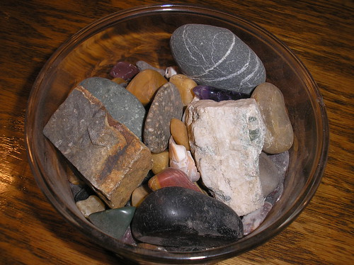 rocks in a bowl
