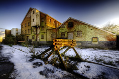 Burlingham Mill - HDR (Andrew Stawarz) Tags: nikon published adobephotoshop urbandecay rail hdr burystedmunds d300 buffers albumcoverart sigma1020mmf456exdchsm 9exposure burlinghammill photomatixtonemappingplugin12 twiphdr theryanexpress multidoserecords