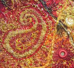 Detail Paisley& Shisha 3 (Karen Cattoire) Tags: original abstract art shisha handmade embroidery originalart creation fabric fiberart paisley beading textileart bjp tissu abstrait textiledart karencattoire fibretextile arttexilte