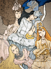 Christian Dior Painting (Danny Roberts) Tags: beauty drawing drawings portfolio couture christiandior highfashion johngalliano gemmaward lilycole layingontheground 5girls dannyroberts dannyrobertsfashionillustration cintadicker christiandiorillustration dannyrobertsillustration