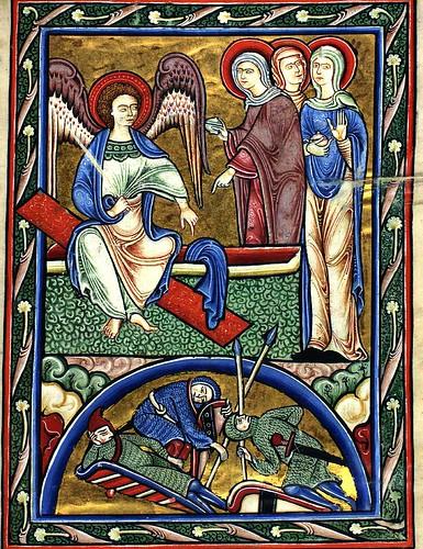 15 recto -El angel y las mujeres en el sepulcro