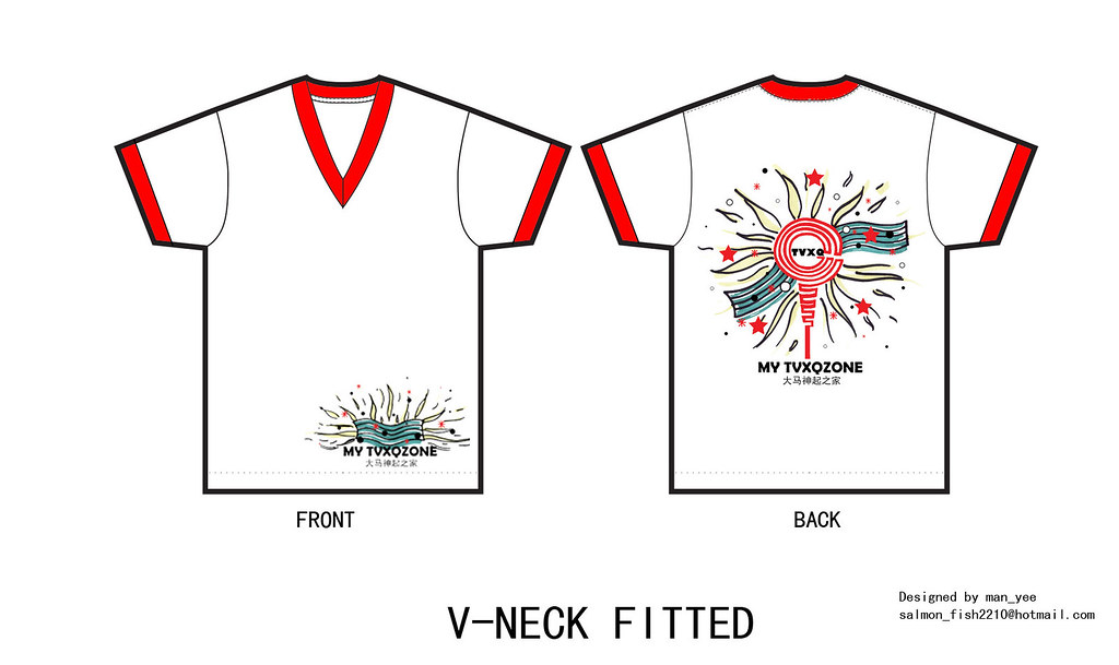 t-shirt v-neck fitted (W + R) final