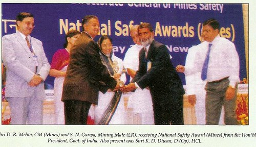 National Mines Safety Award to Khetri Copper Complex, Khetrinagar, Rajasthan, India. The Ministry of Labour and Employment, Govt. of India, organized National Safety awards for the year 2004, 2005, 2006 on 06.05.2008 by the Hon'ble President of India.