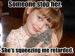 squeezing me retarded ({Amber} ) Tags: cat retarded squeezing