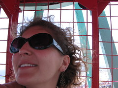 Sara on the Wonder Wheel