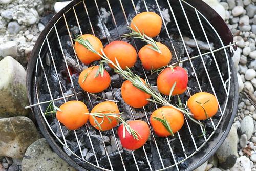 Abricots marinés au miel & au romarin