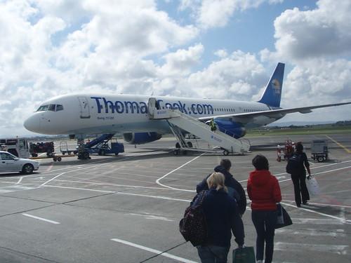 Avión hacia Innsbruck