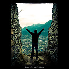 ~~ A great day for freedom ~~ (Julien Ratel ( Jll Jnsson )) Tags: city people mountain france rock montagne grenoble canon freedom town model ruins escape pierre character pinkfloyd tokina creation libert eos350d vasion ruines personnage jrmy labastille 1224f4 squareframing svader hugstoallofyou blueju38 agreatdayforfreedom julienratel schapper julienratelphotography saffranchir backinthebusiness desbisousvoustous