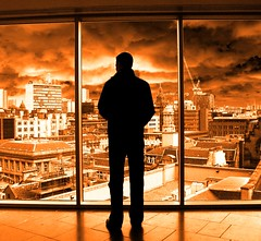Nick III @ The Lighthouse, Glasgow (Semi-detached) Tags: street city light urban panorama lighthouse black lines architecture modern clouds river dark scotland cityscape cloudy geometry glasgow nick apocalypse architect buchanan lane brooding mitchell aplusphoto strathcylde