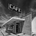 Abandoned Cafe b-w by Bo Darville