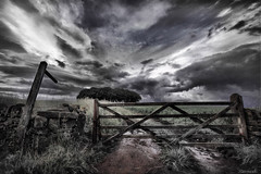 Across the White Peak (Stevacek) Tags: sky clouds d50 nikon gate derbyshire peakdistrict wideangle stormy signpost footpath hdr matlock whitepeak sigma1020mm stevacek