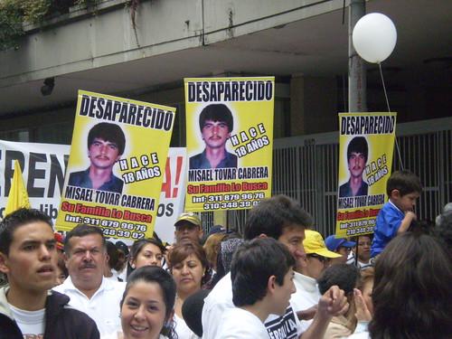 Marcha 20 de julio - Desaparecido Misael Tovar Cabrera