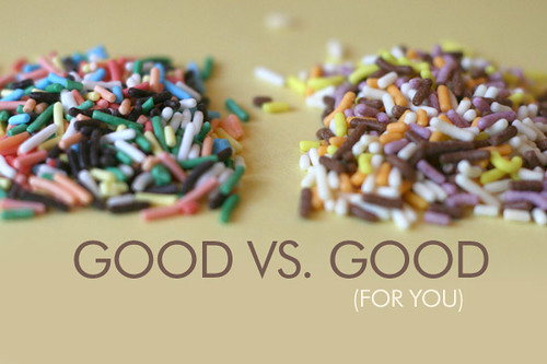 Sprinkles, side by side