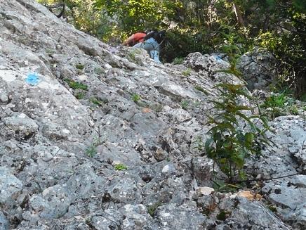 Gerli beim Abstieg