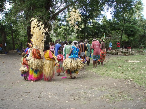 Dancers at circumcision ceremony