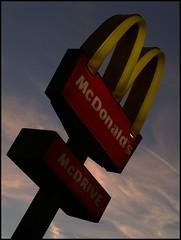 Feeling hungry??? (Kirsten M Lentoft) Tags: sunset sign m chapeau macdonalds abigfave momse2600 betterthangood mmomse ormmmmmuahhhhhh kirstenmlentoft