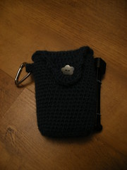 crochet and bubble wrap camera case