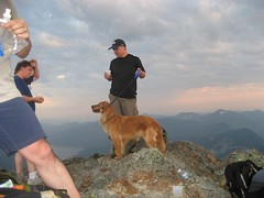 Mark & Rufus on the summit!