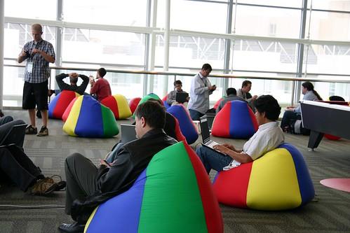 Google IO beanbag lounge