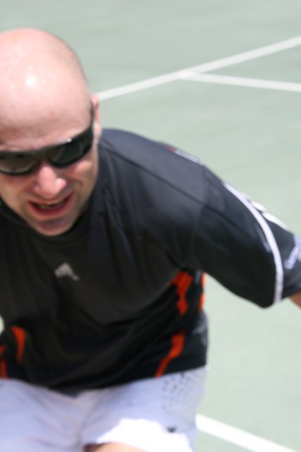 Andre Agassi extreme closeup by MikeManning