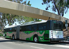 Earth Bus (So Cal Metro) Tags: bus ecology sandiego metro transit environment artic articulated mts earthday 1100 rt7 sandiegotransit newflyer earthfair d60hf bus1113